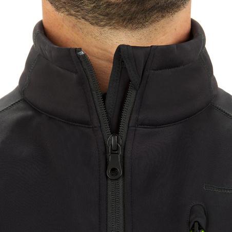 Men's softshell sleeveless windproof boating jacket - Black