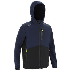 男款遊艇競賽軟殼外套-黑色/灰色