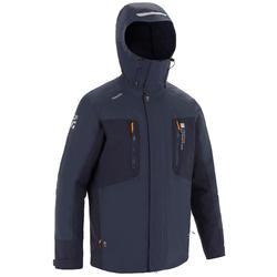 男款航海連帽外套500-灰色/軍藍色