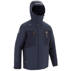 Men's Sailing Parka Jacket 500 - Grey / Navy