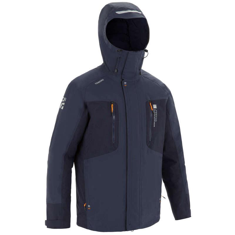 Férfi téli kabát Vitorlázás, hajózás, dingi - Férfi hajóskabát 500-as TRIBORD - Férfi vitorlás ruházat, cipő