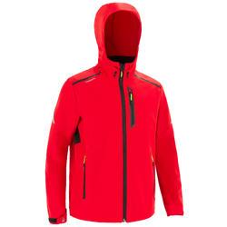 男款遊艇競賽軟殼外套-紅色