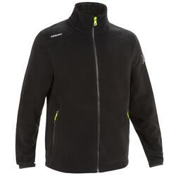 男款航海防潑水刷毛外套RACE 100-黑色