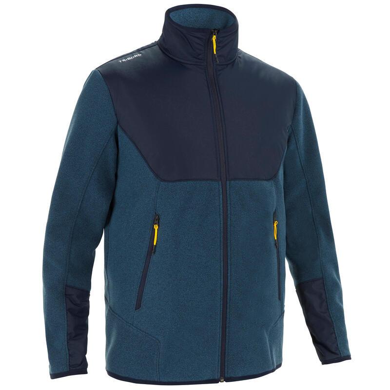 Warme fleece voor zeilen heren Sailing 500 grijs