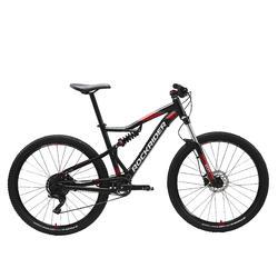 "Mountainbike ST 530 S 27.5"" 1x9 speed rockrider/microshift zwart/rood"