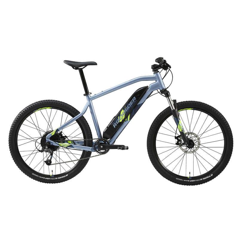 MEN SPORT TRAIL MTB ELECTRIC BIKE Cycling - E-ST 100 Electric Mountain Bike, Blue - 27.5