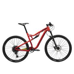 """Mountainbike voor XC-mountainbiken 100 S Eagle 29"""" rood/geel"""