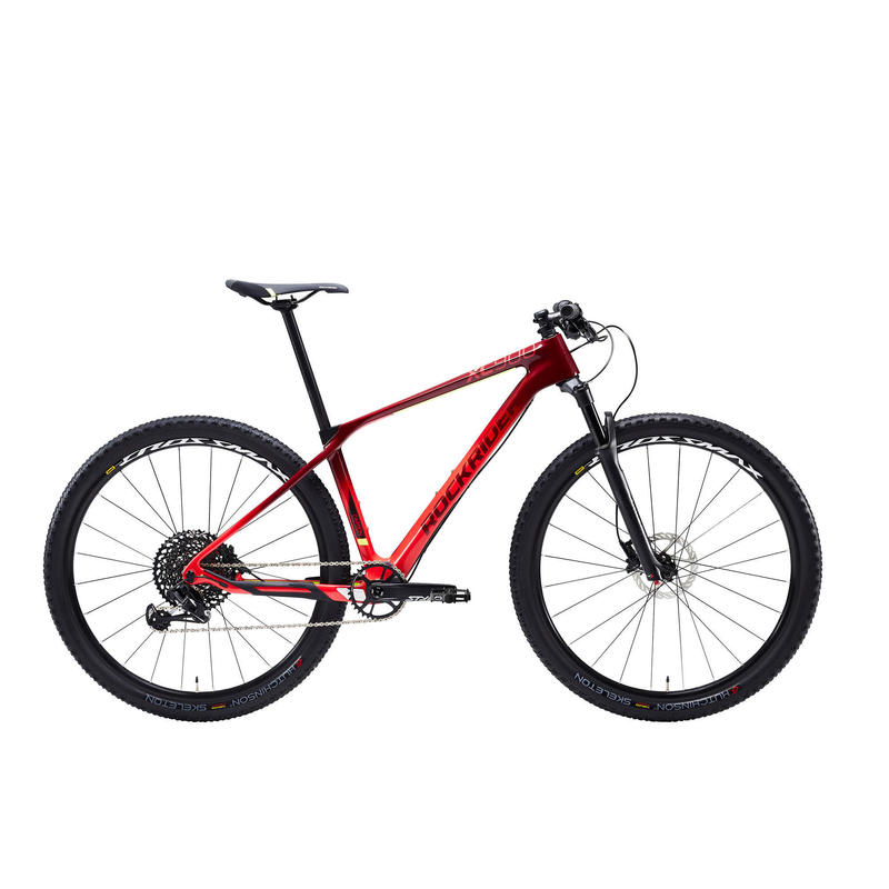 "29"" Carbon Mountain Bike XC 900 - Red/Yellow"
