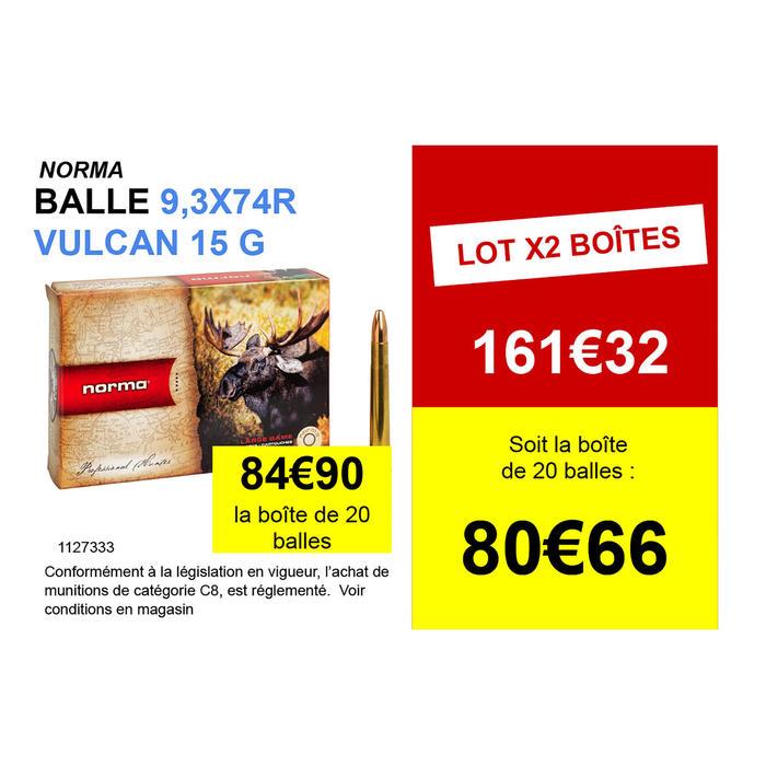 Munitions de chasse 9,3x74R Vulkan 15g