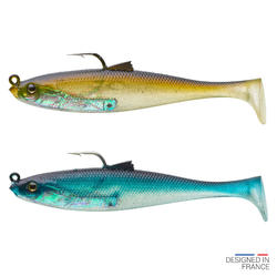 Softbaits voor zeevis shad swimbait sardine set Osarda 80 natural