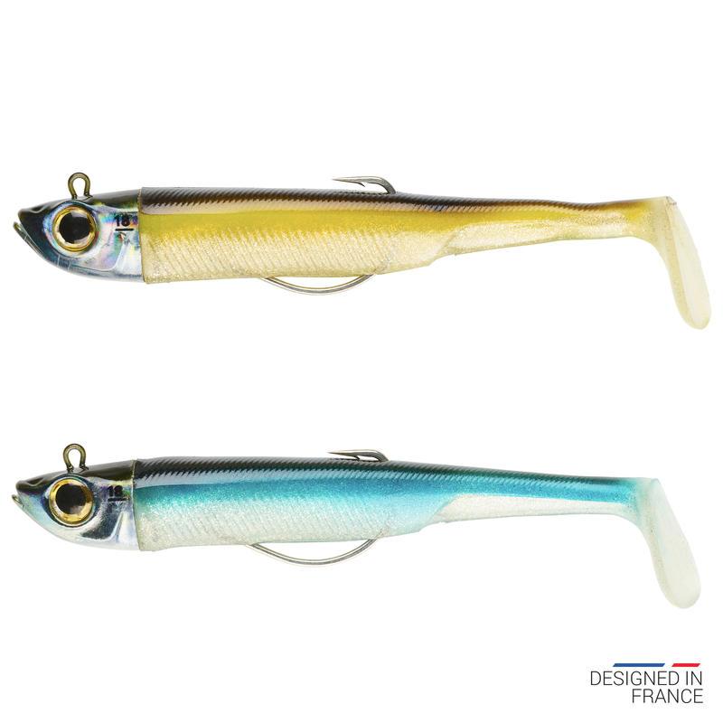 Sea Fishing Combo Texas Anchovy Shad Lures Ancho 120 18g Ayu/Blue