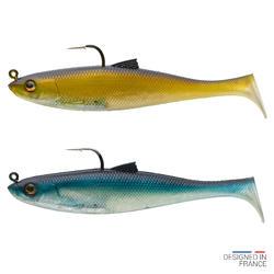 Amostras Flexíveis Pesca Shad Swimbait OSARDA 120 NATURAL (Conjunto)