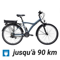 Elektrische hybride fiets Original 920 E grijsblauw