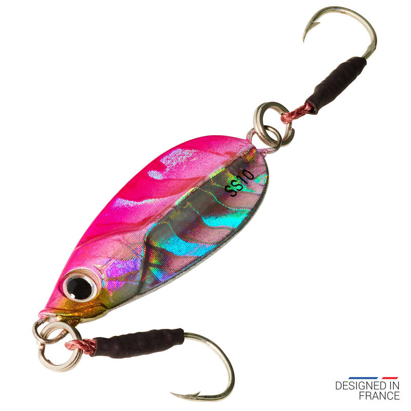 Lure fishing at sea Casting jig BIASTOS SLOW 10 g - pink
