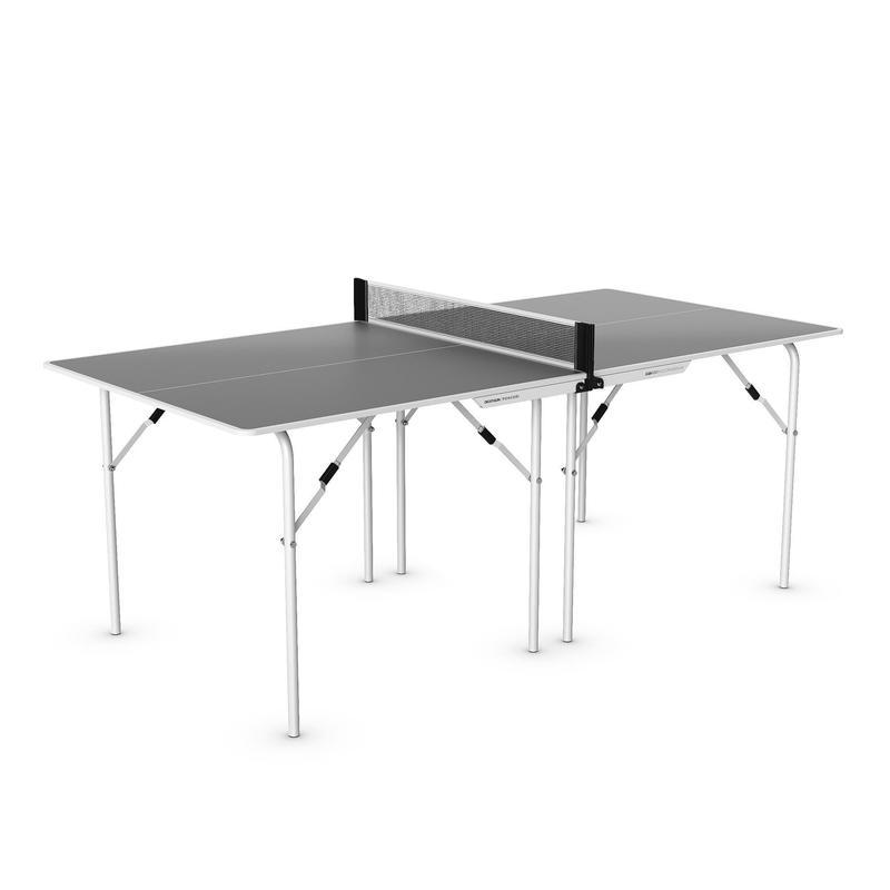 Tafeltennistafel / pingpongtafel indoor PPT 100 medium grijs