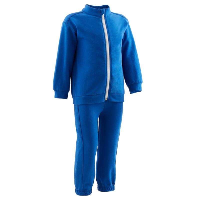 Warm trainingspak voor kleutergym 120 blauw