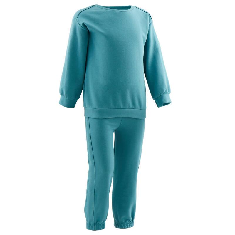 OBLEČENÍ CVIČENÍ PRO NEJMENŠÍ Cvičení pro děti - SPORTOVNÍ SOUPRAVA 100 DOMYOS - Oblečení pro děti od 1 do 6 let