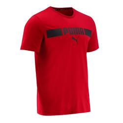 T-shirt voor heren bordeaux met logo