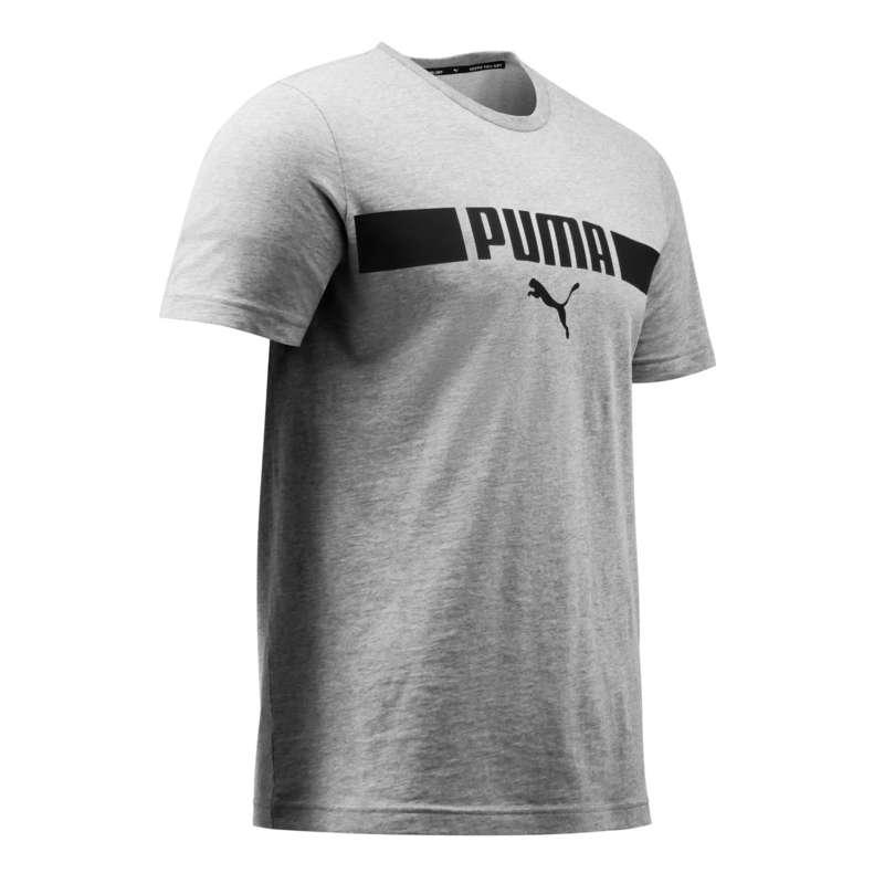 T-SHIRT E SHORT UOMO Ginnastica, Pilates - T-shirt uomo ginnastica grigia PUMA - Abbigliamento uomo