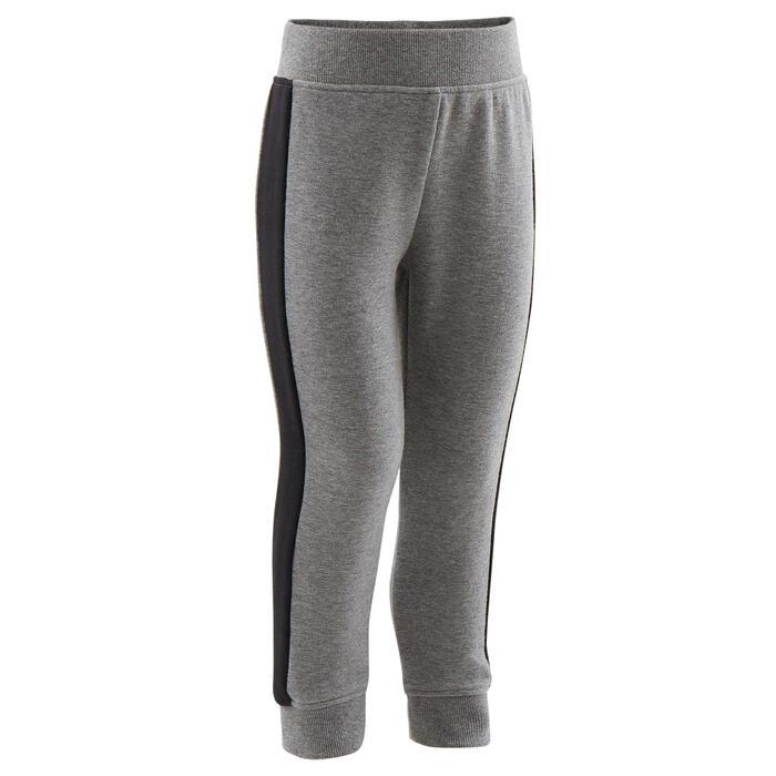 Warme broek voor peuter- en kleutergym 120 grijs/zwart