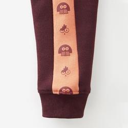 Warme broek voor peuter- en kleutergym 120 bordeaux/oranje