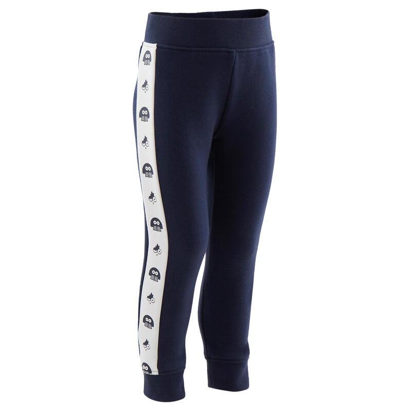 Pantalon slim chaud bleu marine imprimé Baby Gym enfant