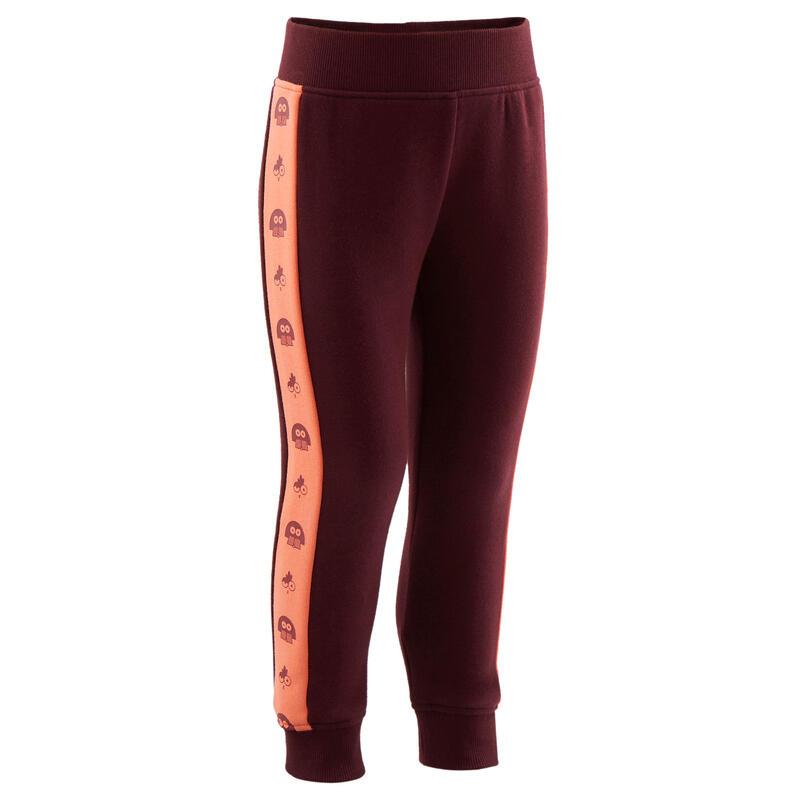 Pantalon chaud 120 Baby Gym Bordeaux/Orange