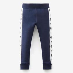 Warme broek voor peuter- en kleutergym 120 marineblauw