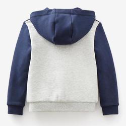 Warm vest voor peuter- en kleutergym 120 marineblauw/grijs