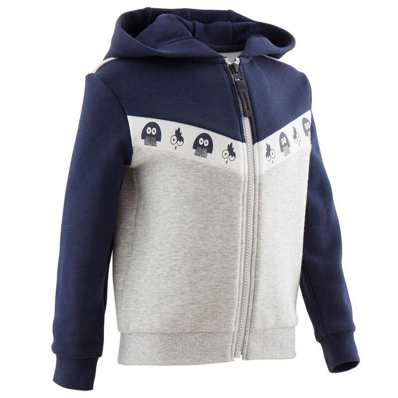 KLÄDER FÖR GYMNASTIK, BABY Populärt - Jacka varm 120 Junior DOMYOS - Långärmade tröjor