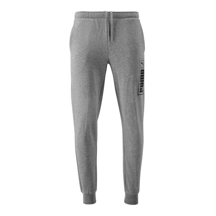 Pantalon de Jogging Puma Homme Gris avec Logo
