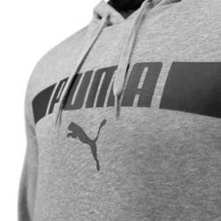 Sweat à Capuche Puma Homme Gris avec Imprimé