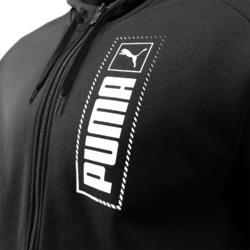 Veste à Capuche Puma Homme Noir avec Logo