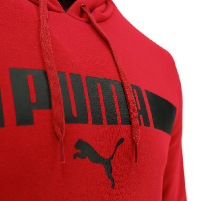 Sweat à Capuche Puma Homme Rouge avec Imprimé