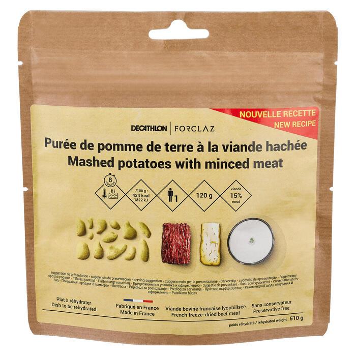 Vriesdroogmaaltijd rundsvlees met puree 120 g
