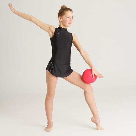 165mm Rhythmic Gymnastics Ball - Coral Glitter