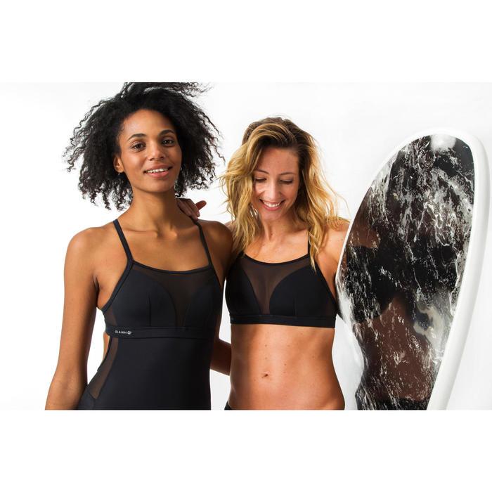 Haut de maillot de bain brassière de surf femme double réglage plat ELISE NOIRE