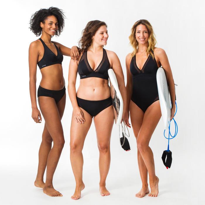 Dames bikinitop zonder sluiting voor surfen Ana zwart