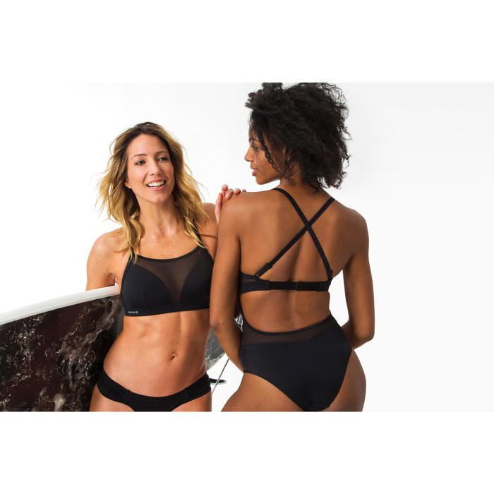 SANA BLACK WOMEN'S BRAZILIAN SURFING BRIEFS