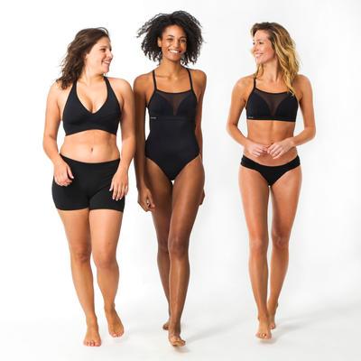 Vestido de baño Short Bikini surf Olaian Reva Mujer Negro