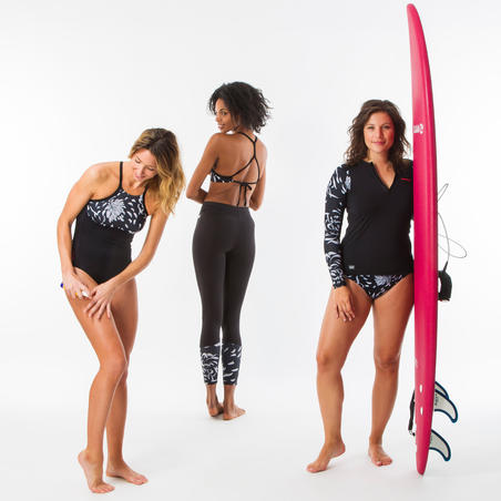 Maillot de bain de surf 1 pièce femme dos X ou H dégagé ANDREA AKARU