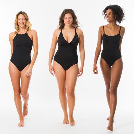 Maillot de bain une pièce Cloé noir dos réglable X ou U - Femmes