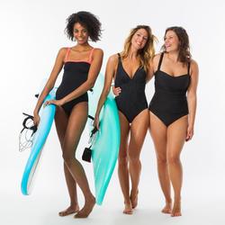 Maillot de bain 1 pièce femme gainant à effet ventre plat DORA NOIR