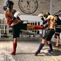 BOX OCHRANA Box a kickbox - CHRÁNIČ HOLENĚ S NÁVLEKEM 900 OUTSHOCK - Chrániče a helmy na box