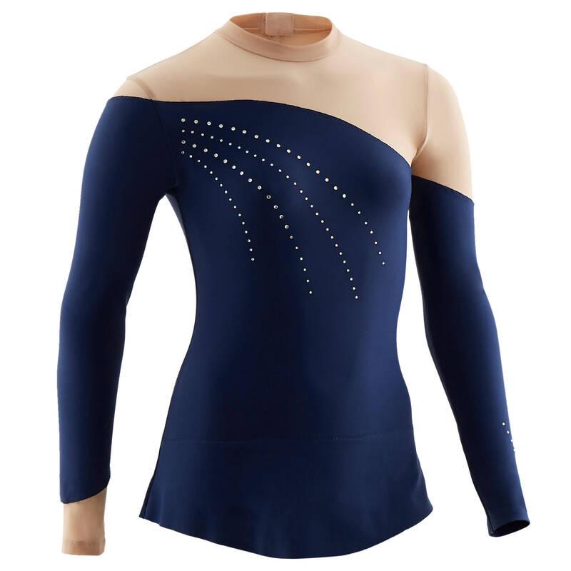 OBLEČENÍ NA SPORTOVNÍ GYMNASTIKU Gymnastika - GYMNASTICKÝ DRES SE SUKÝNKOU DOMYOS - Gymnastické oblečení