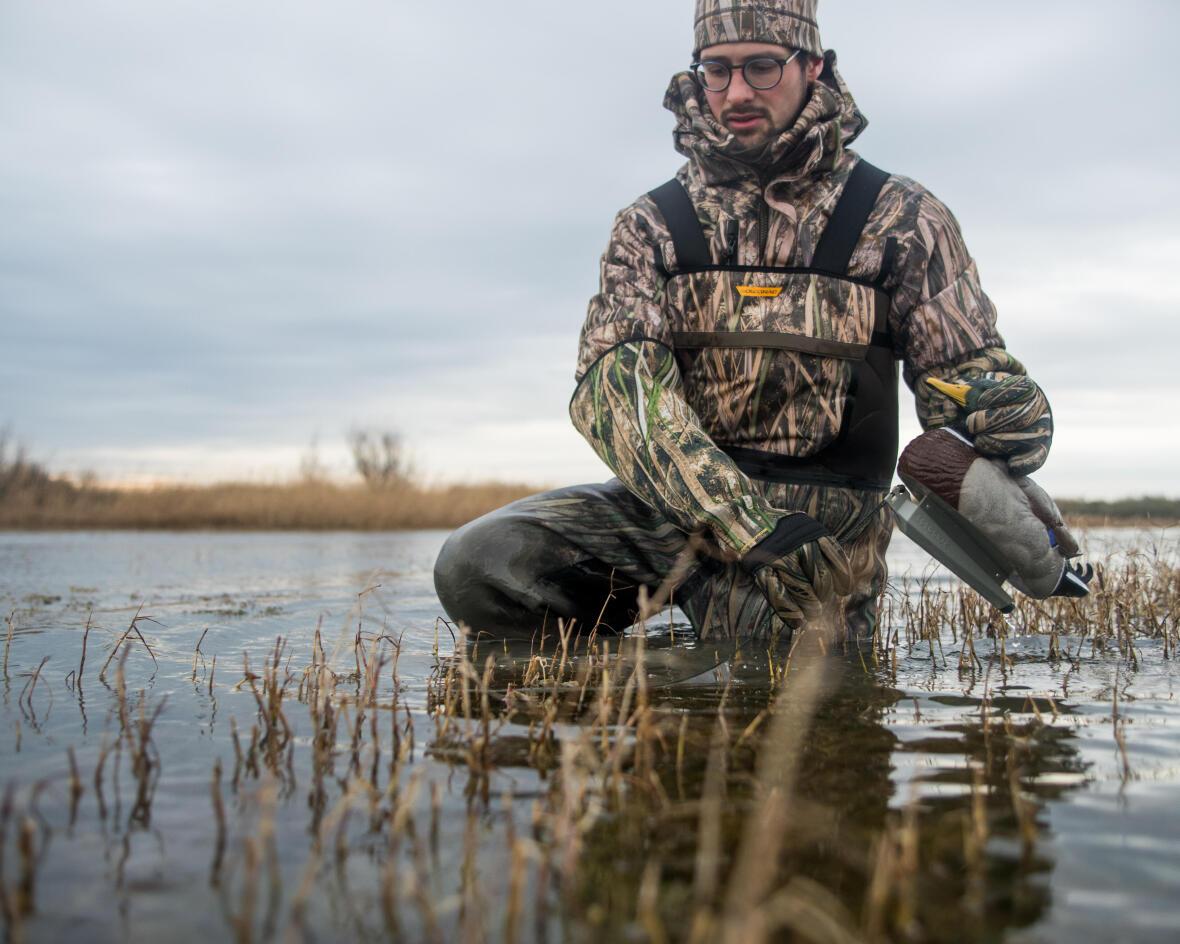 Des waders chauds pour aller chasser le canard