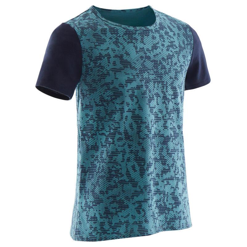 Chlapecké tričko 100 Gym s krátkým rukávem modré