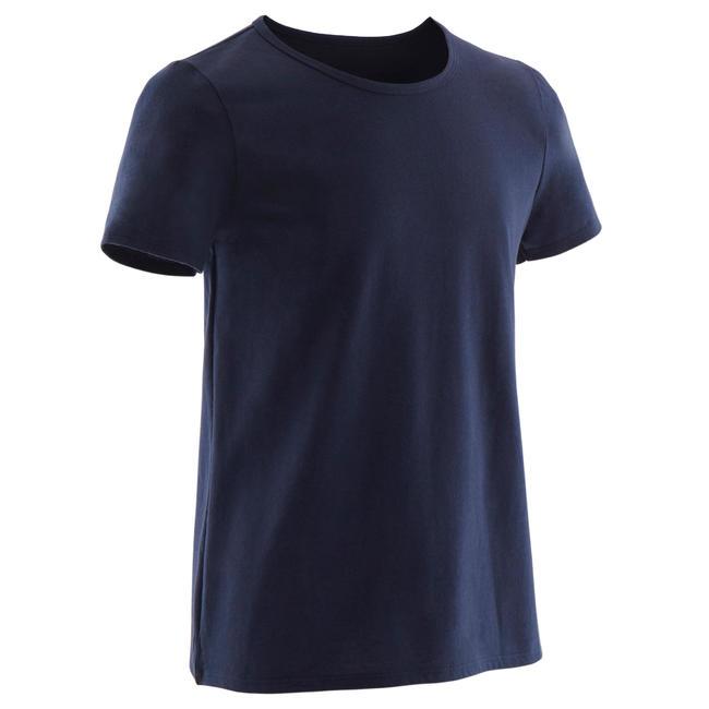 Boys' Short-Sleeved Gym T-Shirt 100 - Navy