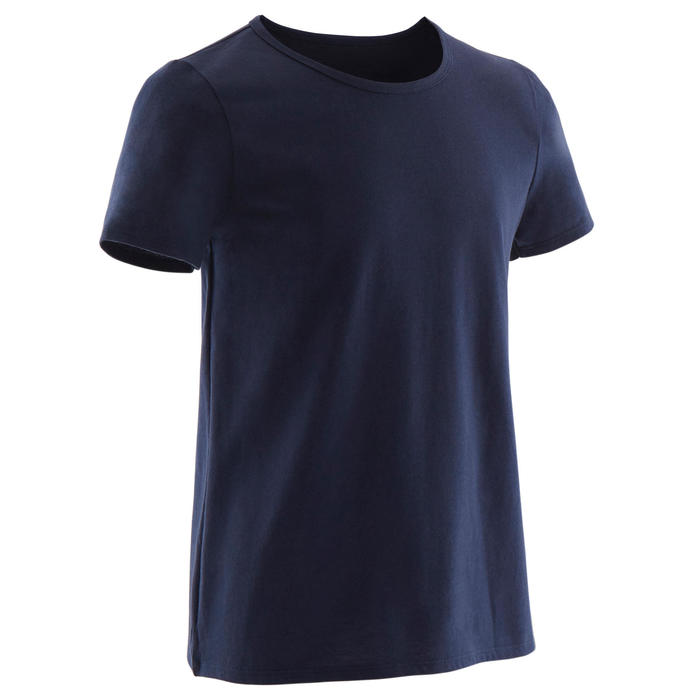 T-Shirt Basic 100 Gym KInder marienblau