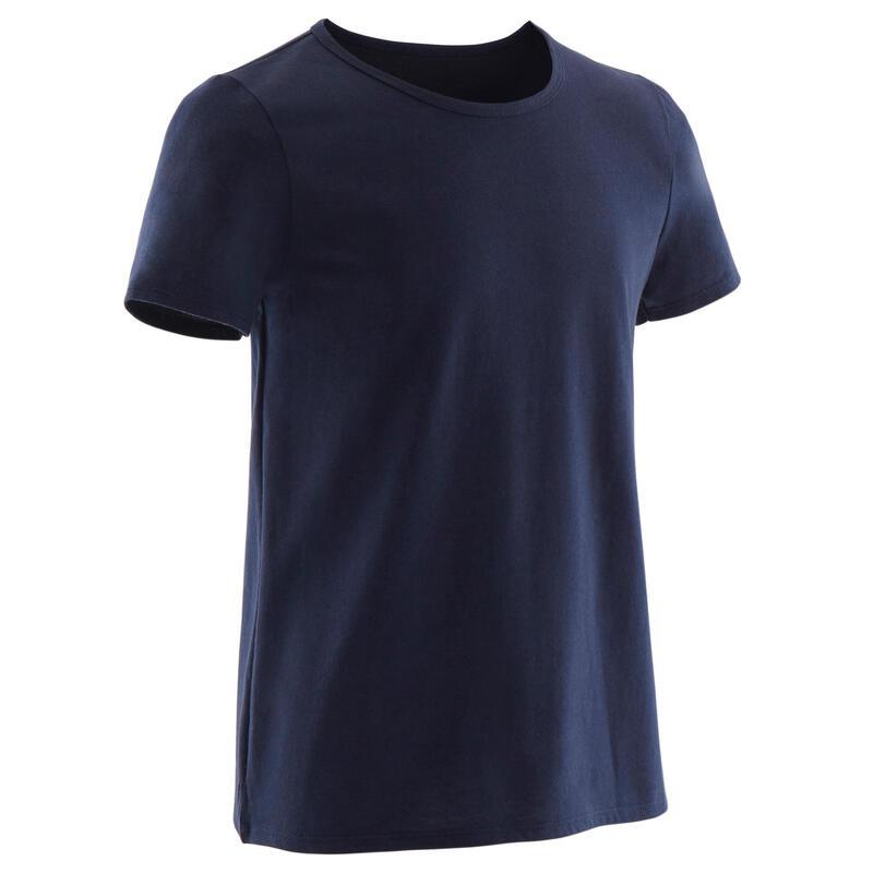 Basic T-shirt voor kinderen marineblauw